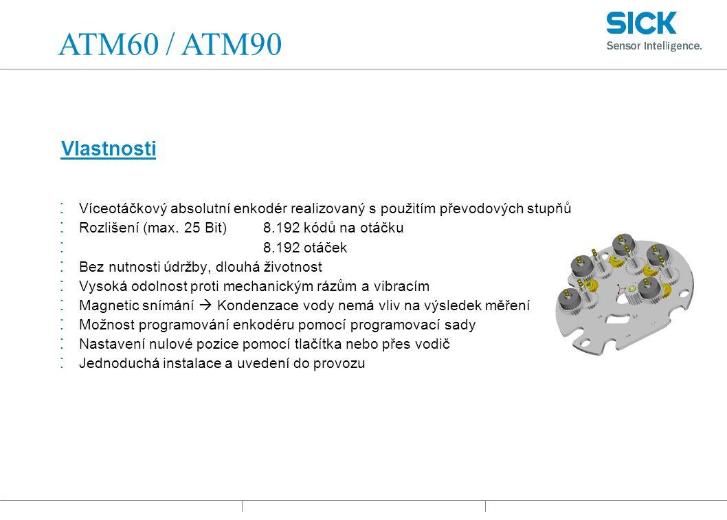 : Víceotáčkový absolutní enkodér realizovaný s použitím převodových stupňů : Rozlišení (max.
