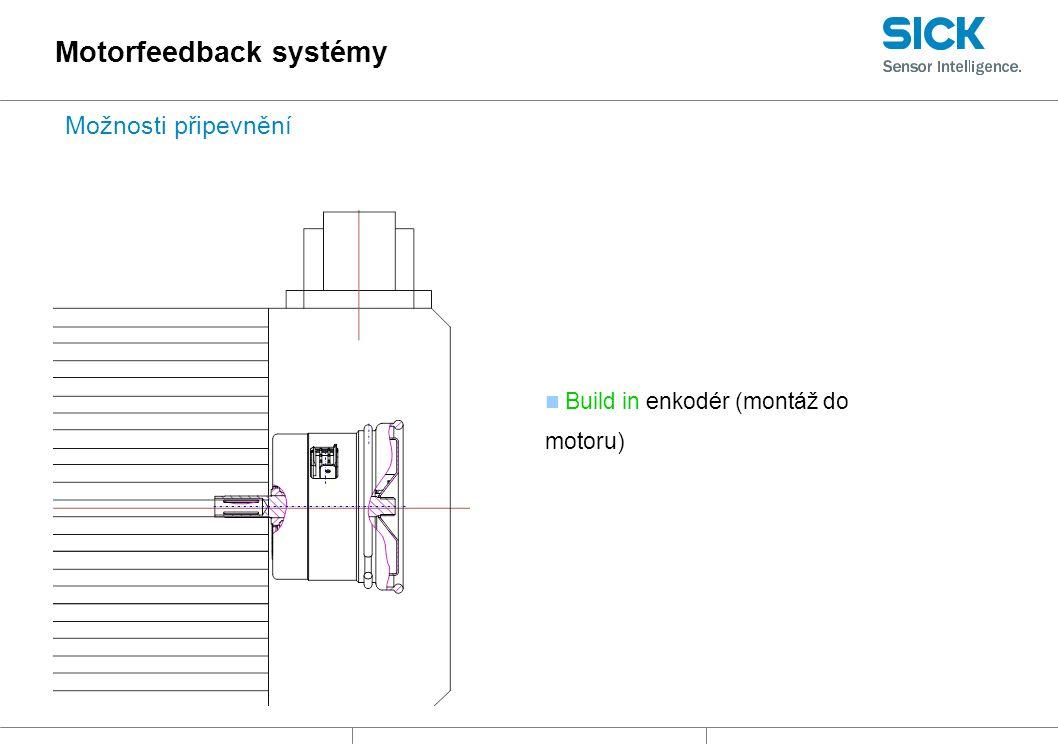 Build in enkodér (montáž do motoru) Motorfeedback systémy Možnosti připevnění