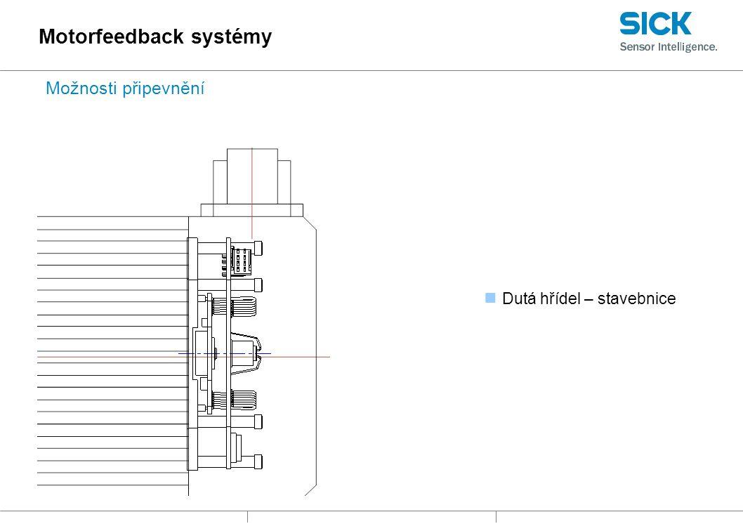 Dutá hřídel – stavebnice Motorfeedback systémy Možnosti připevnění