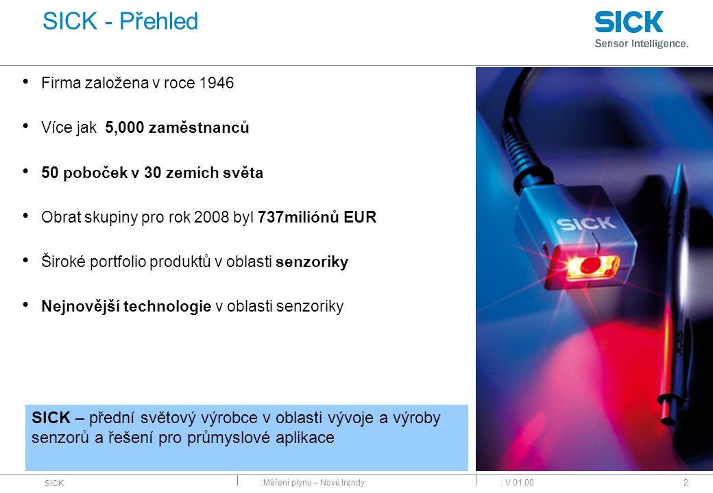 :Měření plynu – Nové trendy SICK : V 01.0013 FLOWSIC100 DUSTHUNTER DEFOR GM32 Novinky FLOWSIC100 Flare MCS300P