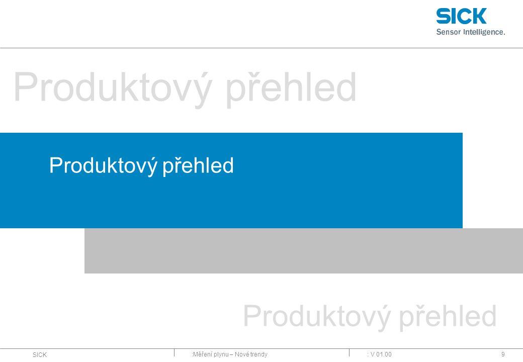 :Měření plynu – Nové trendy SICK : V 01.009 Produktový přehled