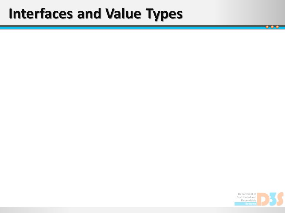 Interfaces and Value Types