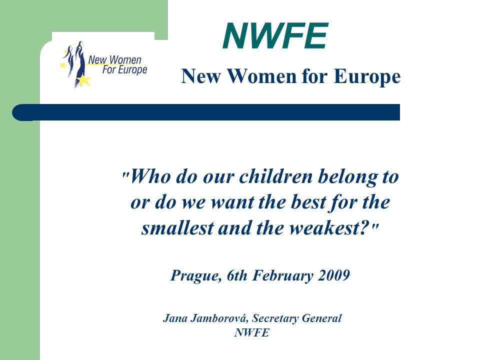 NWFE Who we are...