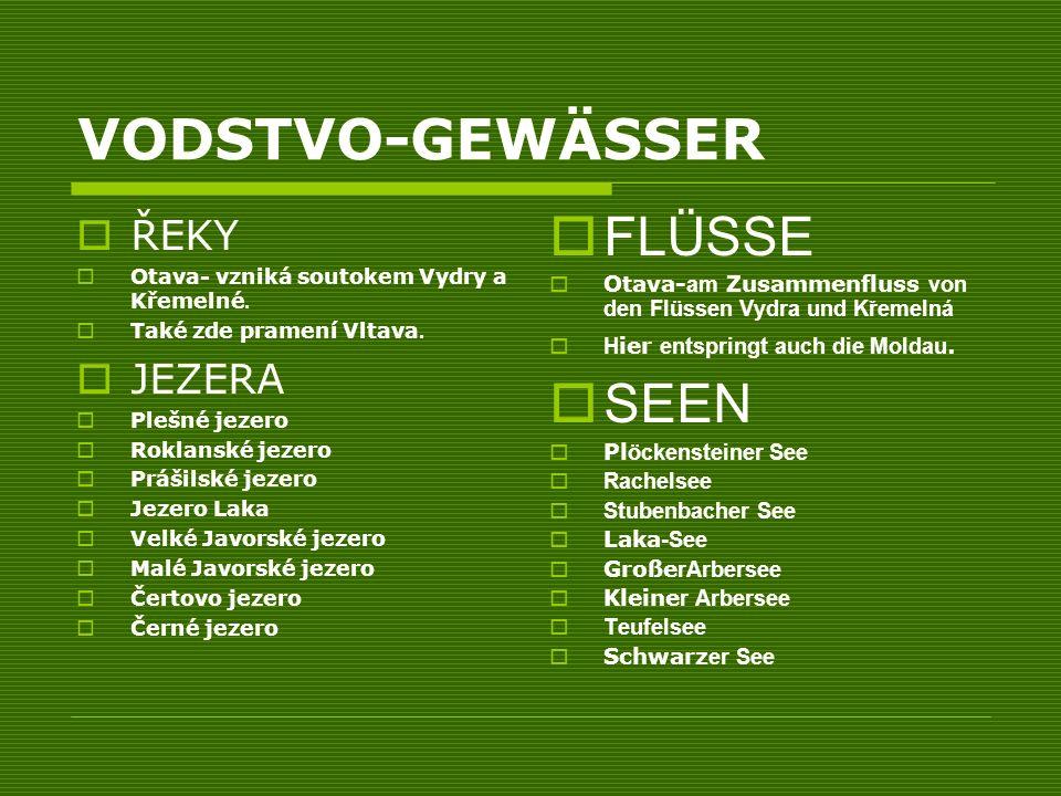 VODSTVO-GEWÄSSER ŘEKY Otava- vzniká soutokem Vydry a Křemelné.