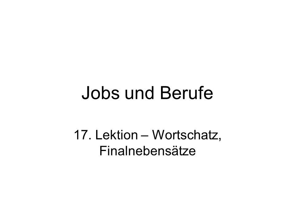 Berufe – Übersetzen Sie.