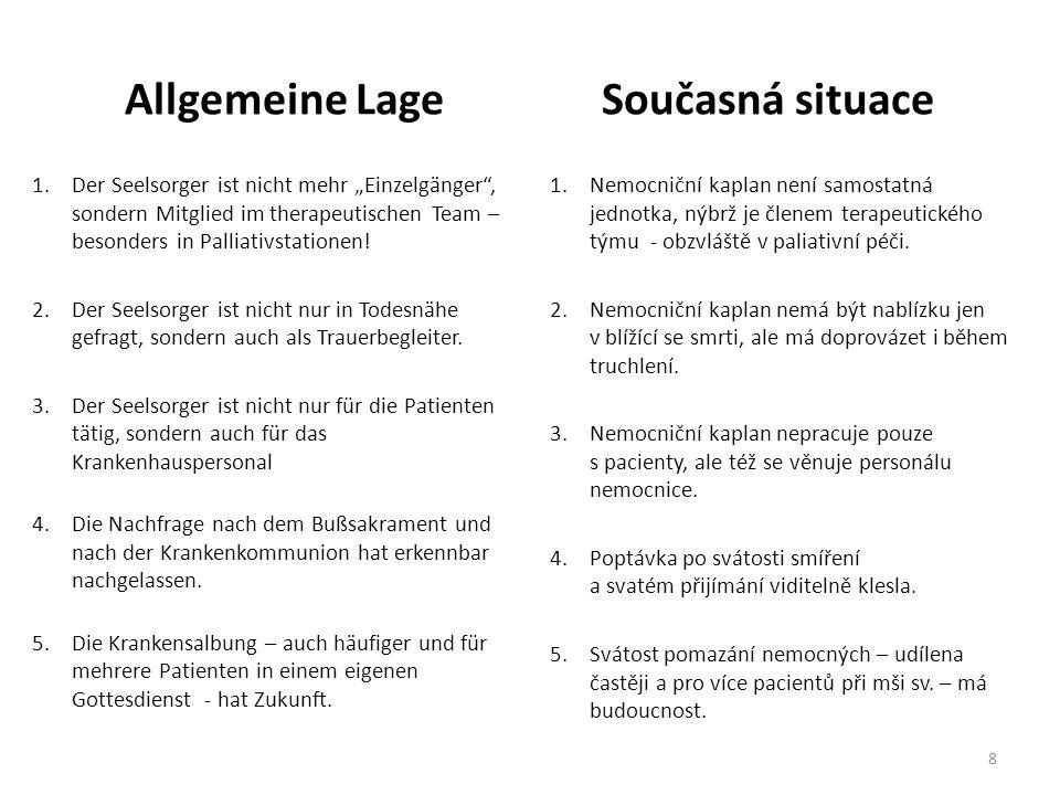 Allgemeine LageSoučasná situace 6.Ökumenische Zusammenarbeit ist selbstverständlich.