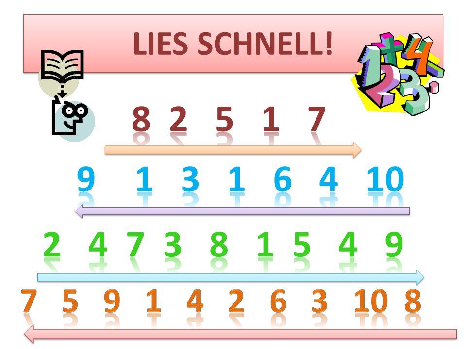 LIES SCHNELL!