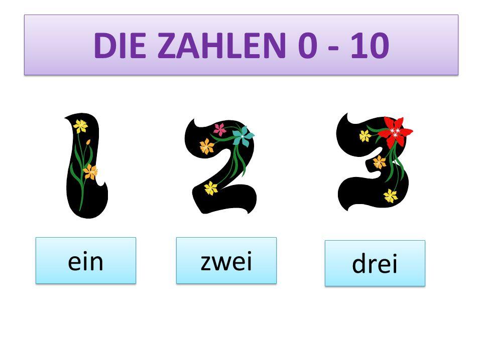 DIE ZAHLEN 0 - 10 vier fünf sechs