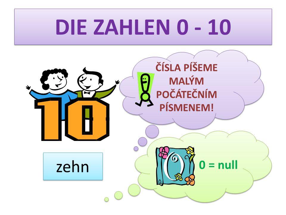 19 DIE ZAHLEN 11 - 20 neunzehn zwanzig