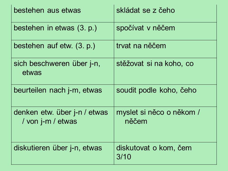 Trpný rod se tvoří pomocí slovesa werden a příčestí minulého významového slovesa.