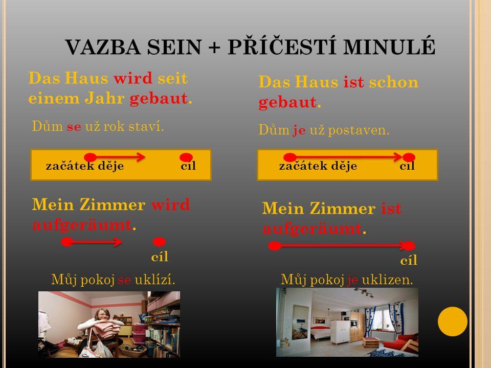 VAZBA SEIN + PŘÍČESTÍ MINULÉ Das Haus wird seit einem Jahr gebaut.
