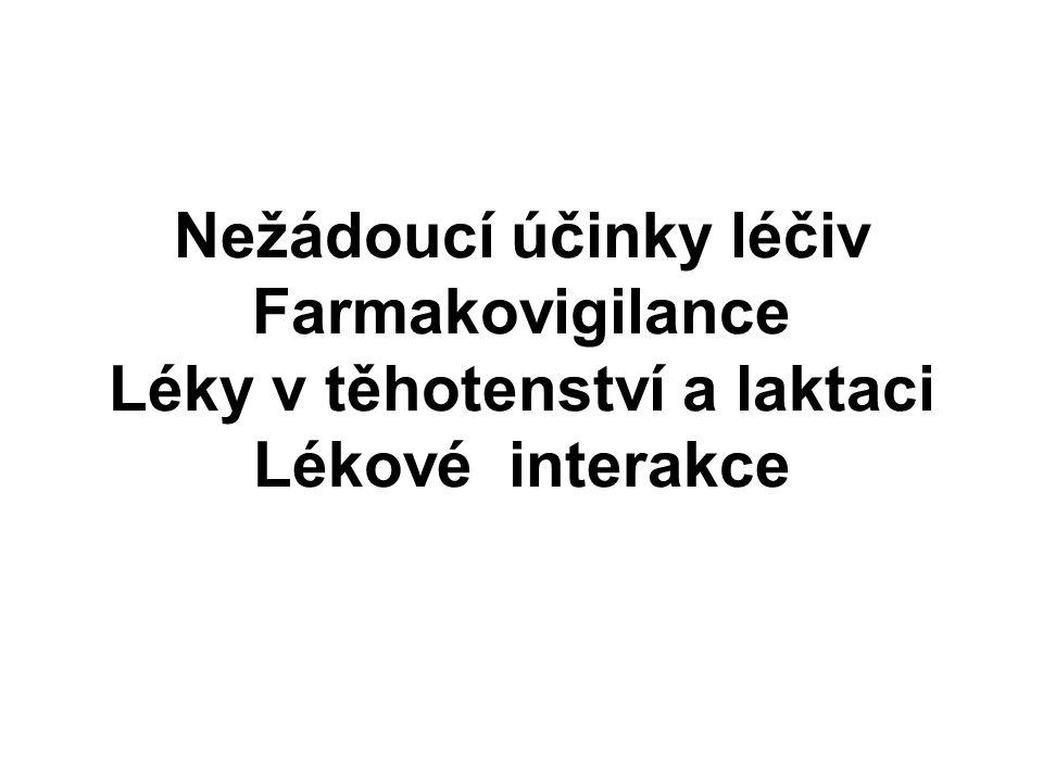 Nefrotoxicita Místo exkrece léčiv (zvýšení koncentrace při tubulárním transportu) NSAID - inhibice PG - retence tekutin, kreatinin, hyperkalémie - analgetická nefropatie (chr.