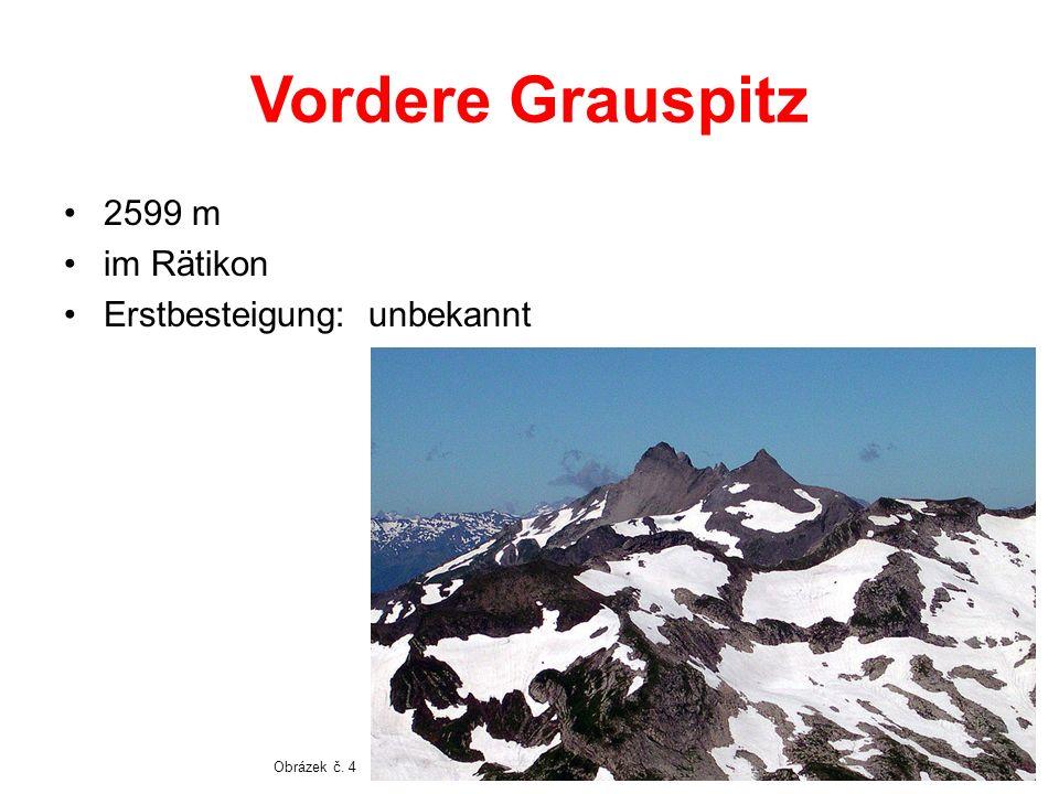 Vordere Grauspitz 2599 m im Rätikon Erstbesteigung: unbekannt Obrázek č. 4