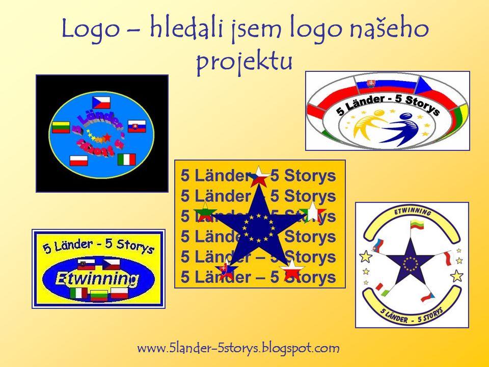 www.5lander-5storys.blogspot.com Logo – hledali jsem logo našeho projektu