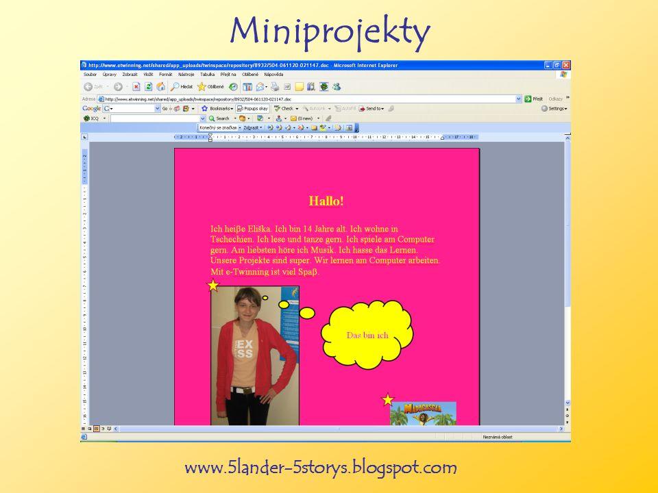 www.5lander-5storys.blogspot.com Miniprojekty