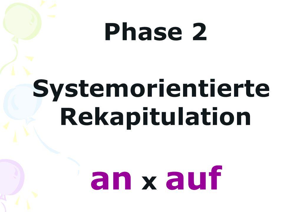 Phase 2 Systemorientierte Rekapitulation an x auf