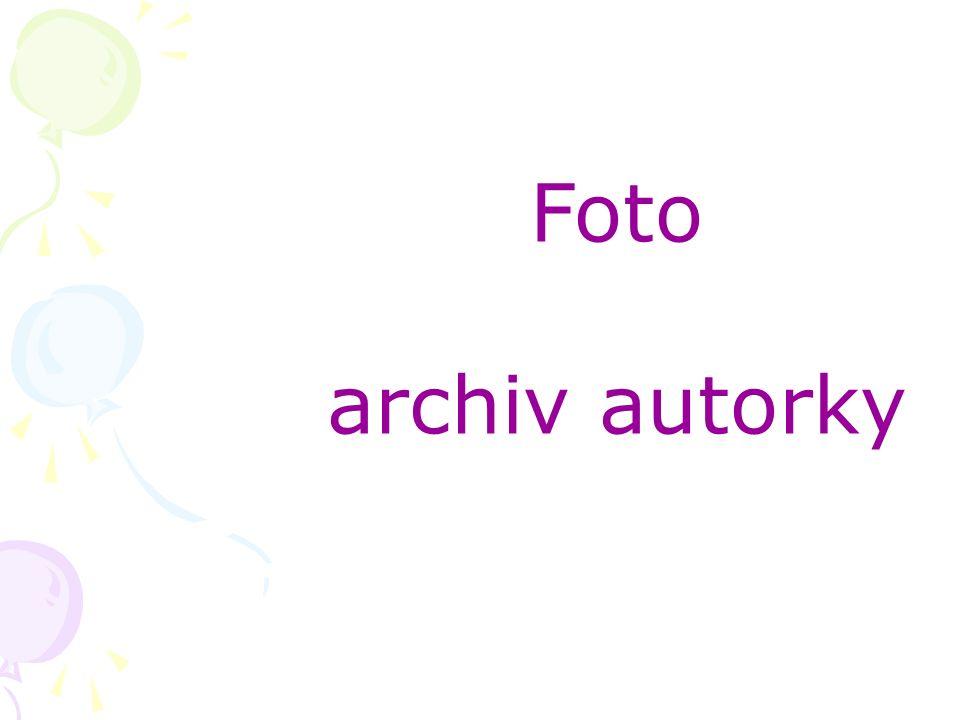Foto archiv autorky