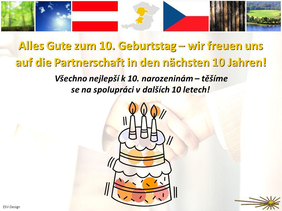 ESV-Design Alles Gute zum 10. Geburtstag – wir freuen uns auf die Partnerschaft in den nächsten 10 Jahren! Alles Gute zum 10. Geburtstag – wir freuen