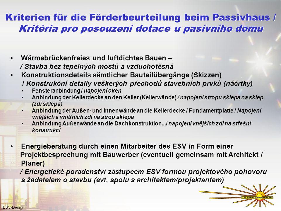 Wärmebrückenfreies und luftdichtes Bauen – / Stavba bez tepelných mostů a vzduchotěsná Konstruktionsdetails sämtlicher Bauteilübergänge (Skizzen) / Ko
