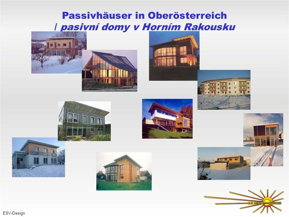 Passivhäuser in Oberösterreich / pasivní domy v Horním Rakousku 030897VT ESV-Design