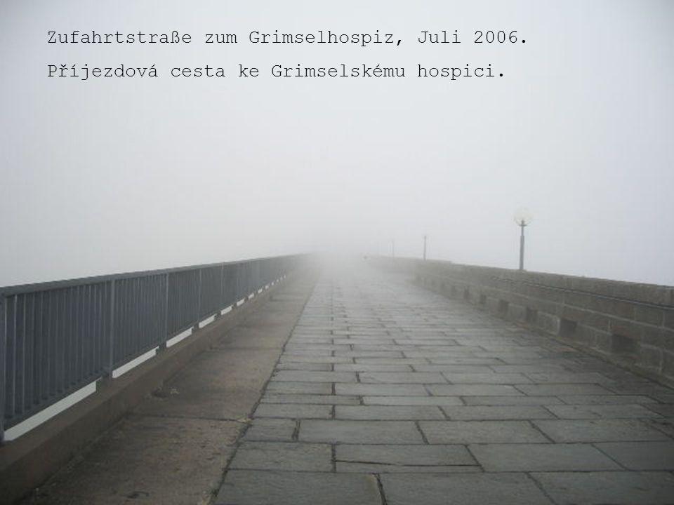 Zufahrtstraße zum Grimselhospiz, Juli 2006. Příjezdová cesta ke Grimselskému hospici.