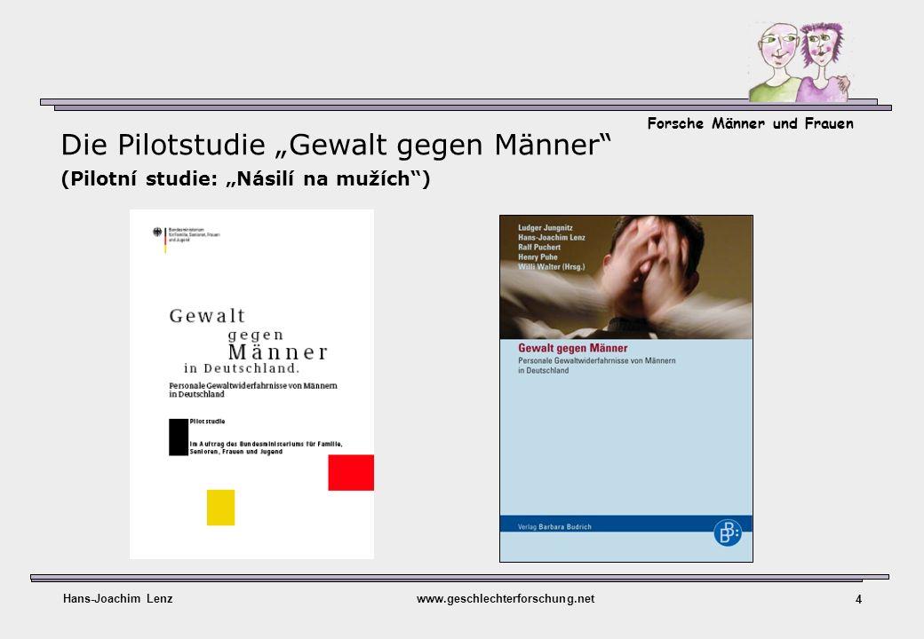 Forsche Männer und Frauen Hans-Joachim Lenzwww.geschlechterforschung.net 4 Die Pilotstudie Gewalt gegen Männer (Pilotní studie: Násilí na mužích)