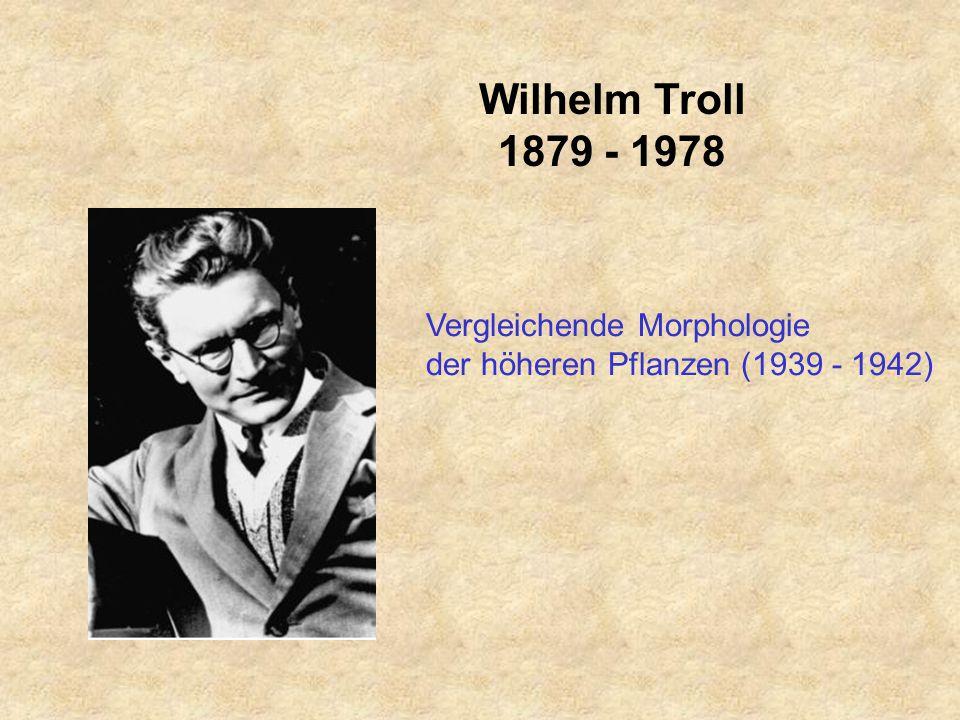 Wilhelm Troll 1879 - 1978 Vergleichende Morphologie der höheren Pflanzen (1939 - 1942)