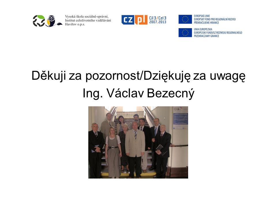Děkuji za pozornost/Dziękuję za uwagę Ing. Václav Bezecný