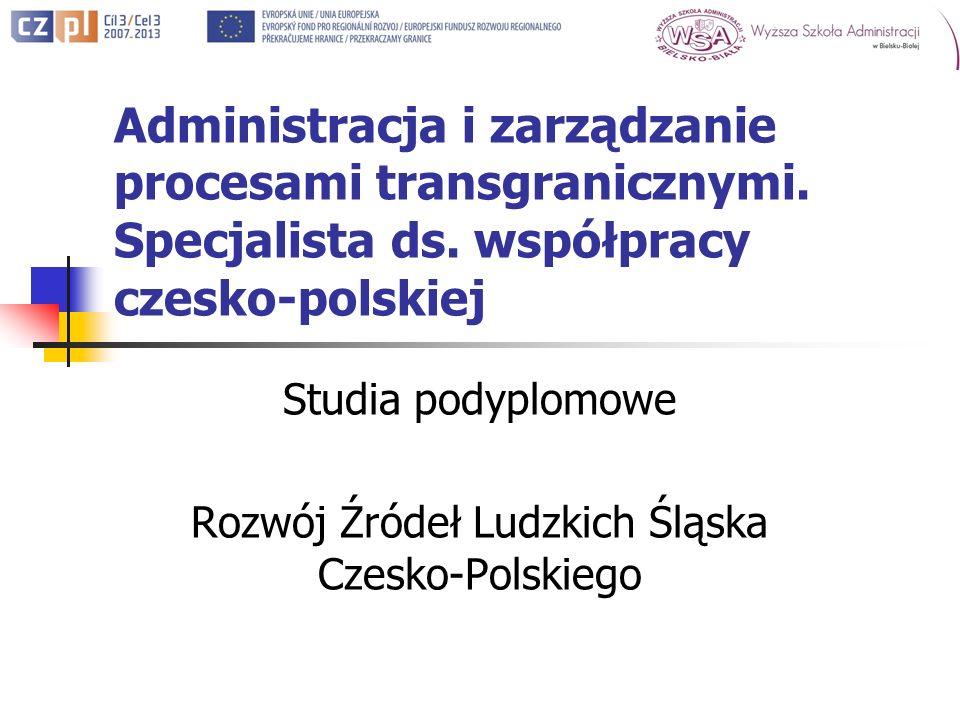 Administracja i zarządzanie procesami transgranicznymi.