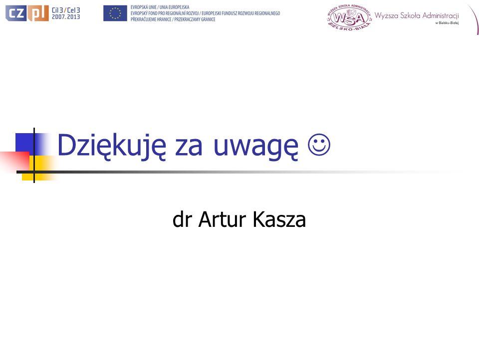 Dziękuję za uwagę dr Artur Kasza