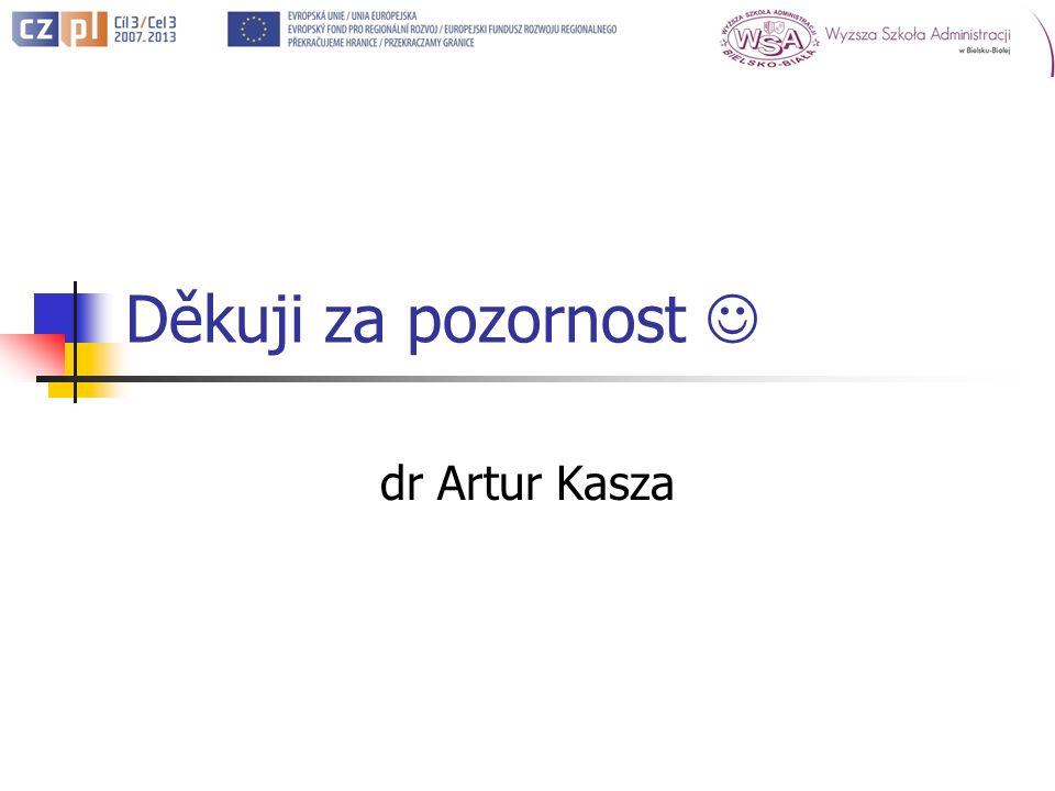 Děkuji za pozornost dr Artur Kasza