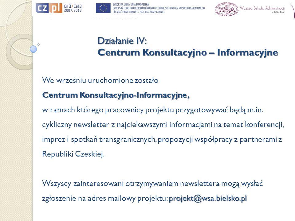 We wrześniu uruchomione zostało Centrum Konsultacyjno-Informacyjne, w ramach którego pracownicy projektu przygotowywać będą m.in.