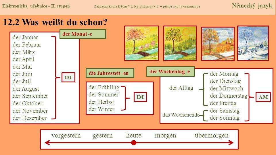 12.3 Was Neues erfahren wir.Elektronická učebnice - I.