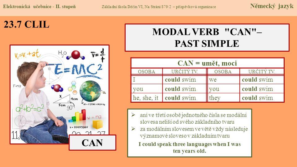 23.7 CLIL CAN MODAL VERB