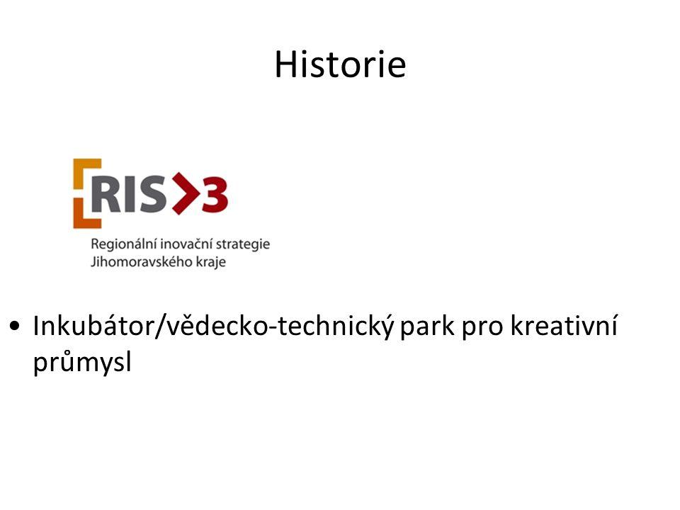 Historie Inkubátor/vědecko-technický park pro kreativní průmysl