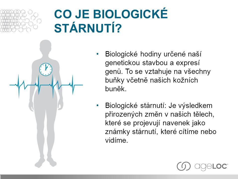 Biologické hodiny určené naší genetickou stavbou a expresí genů.