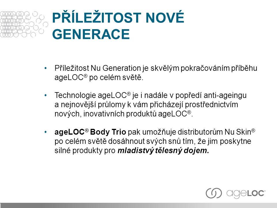 PŘÍLEŽITOST NOVÉ GENERACE Příležitost Nu Generation je skvělým pokračováním příběhu ageLOC ® po celém světě.
