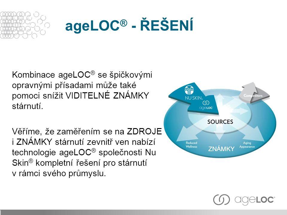 Kombinace ageLOC ® se špičkovými opravnými přísadami může také pomoci snížit VIDITELNÉ ZNÁMKY stárnutí.
