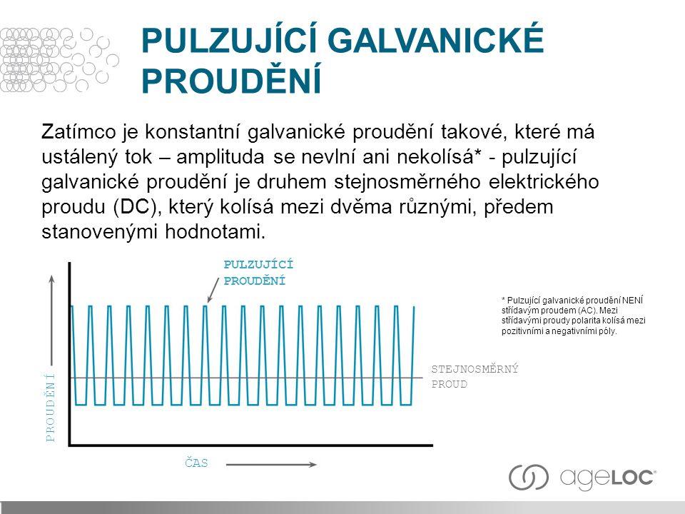 Zatímco je konstantní galvanické proudění takové, které má ustálený tok – amplituda se nevlní ani nekolísá* - pulzující galvanické proudění je druhem stejnosměrného elektrického proudu (DC), který kolísá mezi dvěma různými, předem stanovenými hodnotami.