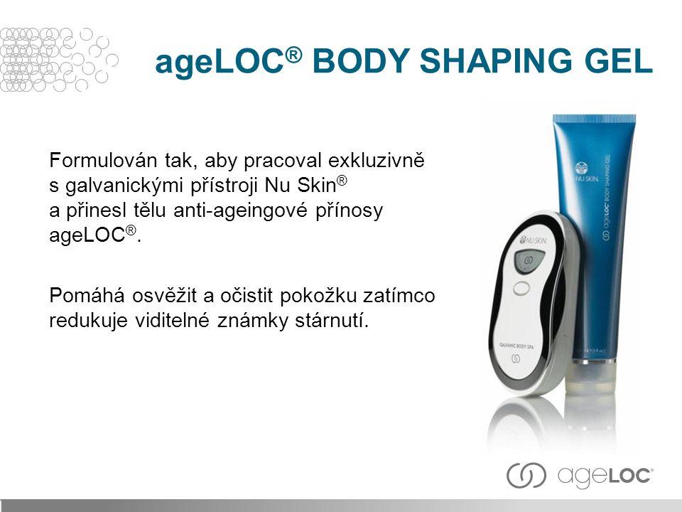 Formulován tak, aby pracoval exkluzivně s galvanickými přístroji Nu Skin ® a přinesl tělu anti-ageingové přínosy ageLOC ®.