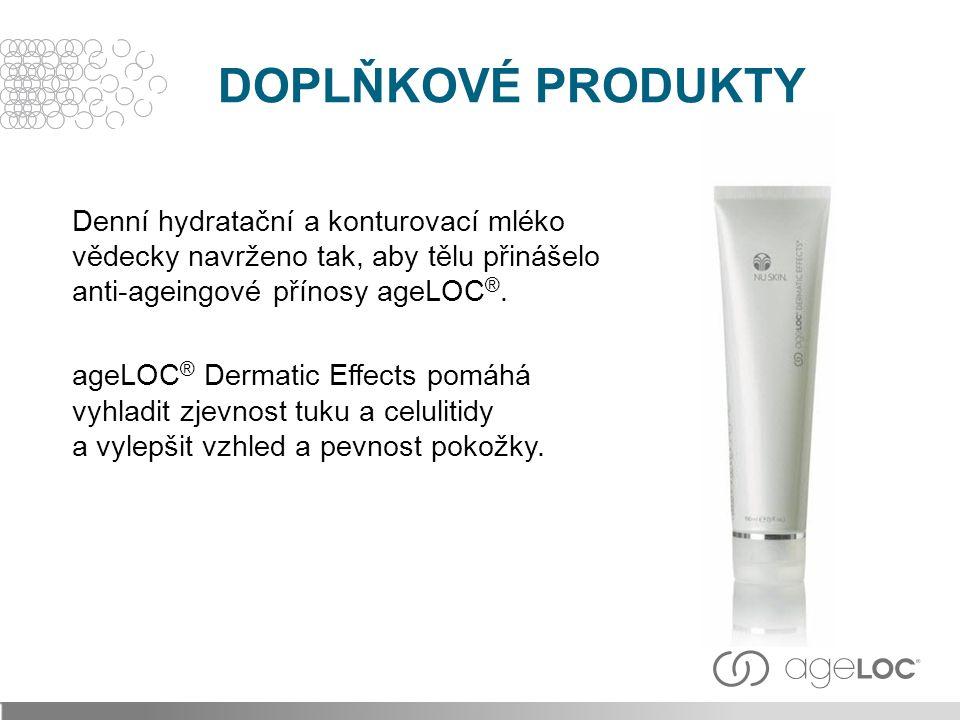 Denní hydratační a konturovací mléko vědecky navrženo tak, aby tělu přinášelo anti-ageingové přínosy ageLOC ®.