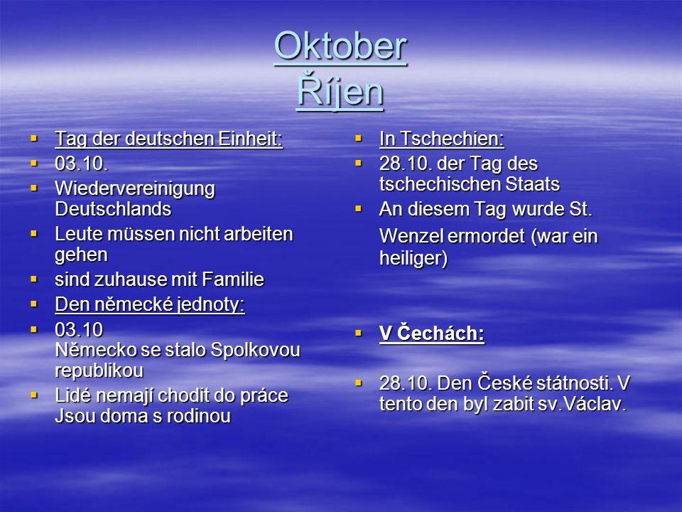 Oktober Říjen In Deutschland: Halloween Halloween 31.