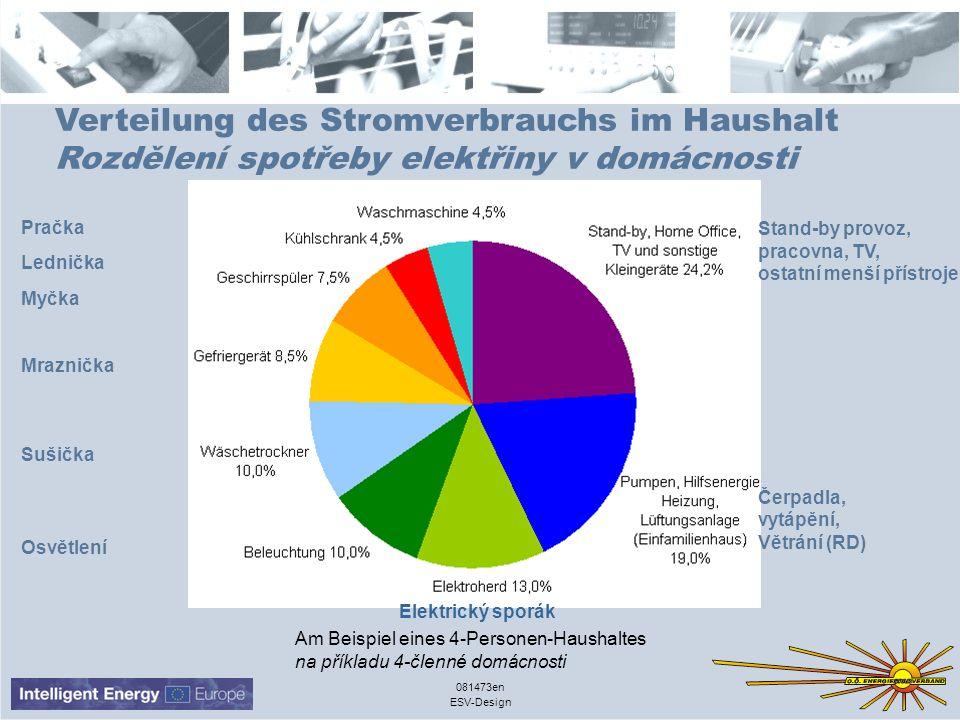 ESV-Design 081473en Verteilung des Stromverbrauchs im Haushalt Rozdělení spotřeby elektřiny v domácnosti Am Beispiel eines 4-Personen-Haushaltes na př