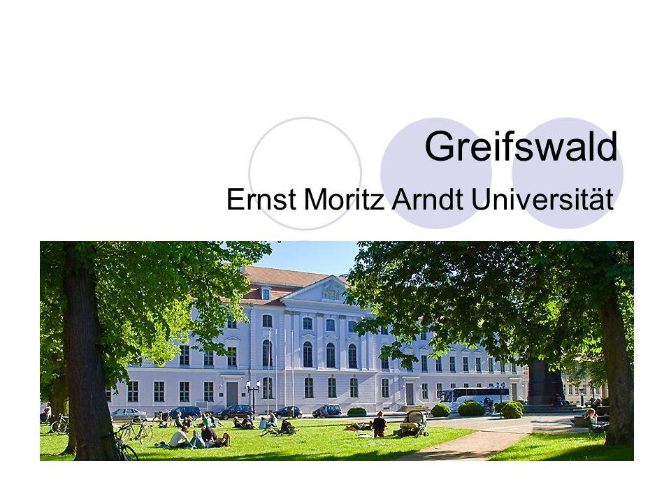 Studentské město Greifswald 55 tis.obyvatel 13 tis.