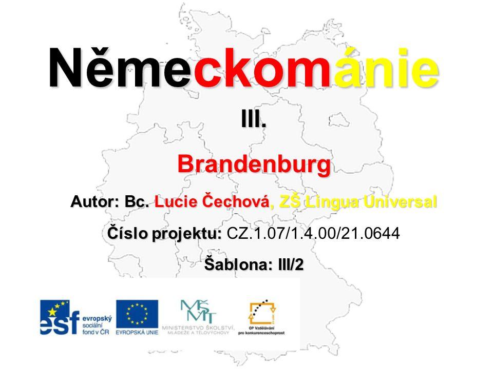 Německománie III.Brandenburg Autor: Bc.