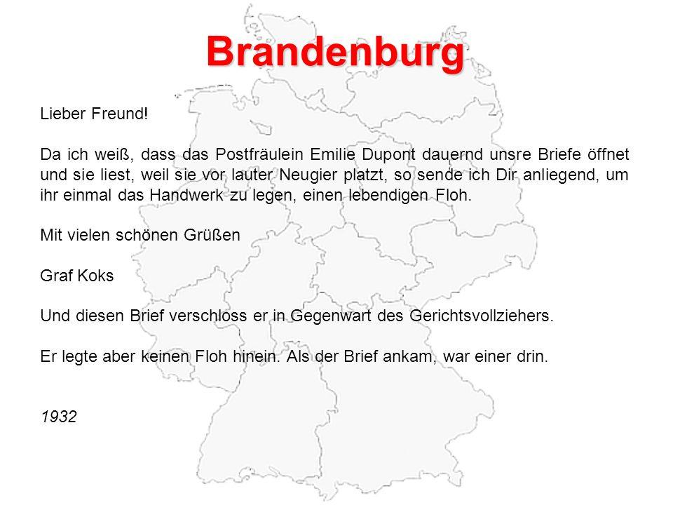 Brandenburg Lieber Freund.