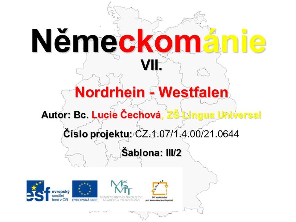 Německománie VII.Nordrhein - Westfalen Autor: Bc.