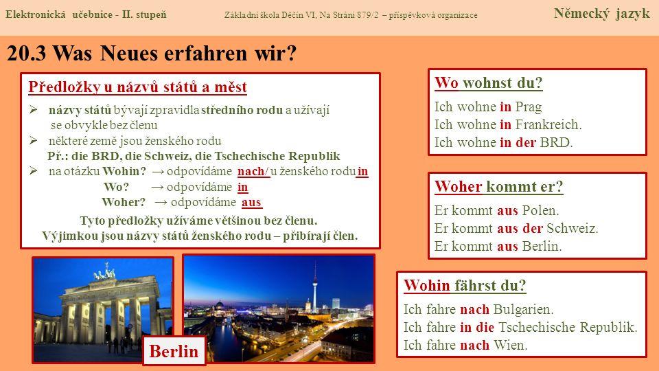 20.4 Welche neue Termine erlernen wir.Elektronická učebnice - II.
