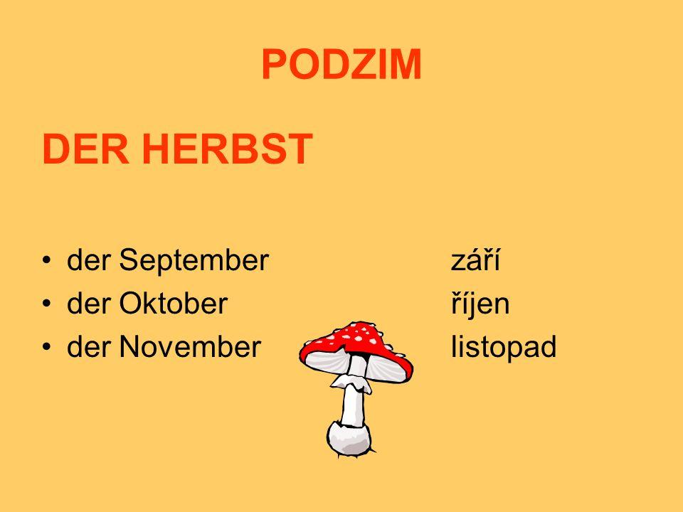 PODZIM DER HERBST der Septemberzáří der Oktoberříjen der Novemberlistopad