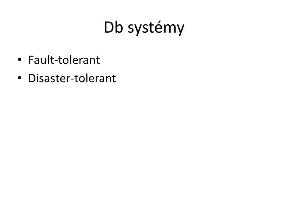 Db systémy Fault-tolerant Disaster-tolerant